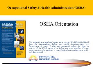 Occupational  Safety & Health Administration  (OSHA)