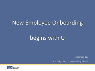 New Employee Onboarding  b egins with U