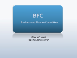 BFC Business and Finance Committee