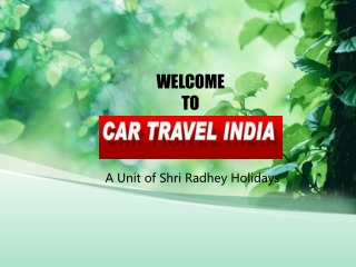 India's best car travel tour