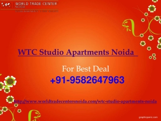 WTC Studio Apartments Noida