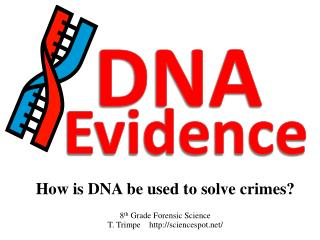 How is DNA be used to solve crimes?  8 th  Grade Forensic Science T.  Trimpe     sciencespot/
