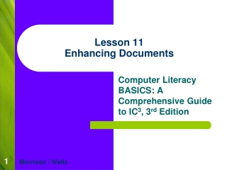 Lesson 11 Enhancing Documents
