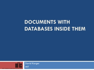 Documents with Databases inside them
