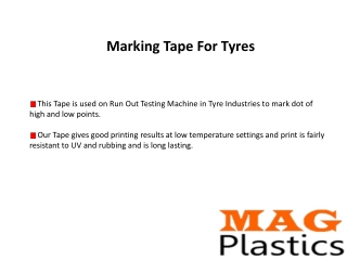 Marking tape for tyres