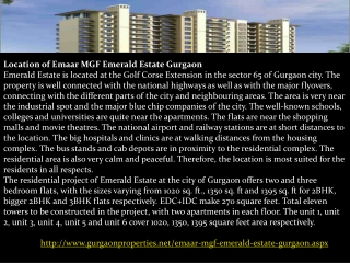 Emaar MGF Emerald Estate Gurgaon