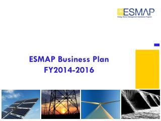 ESMAP Business Plan FY2014-2016