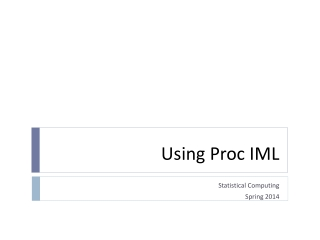 Using Proc IML