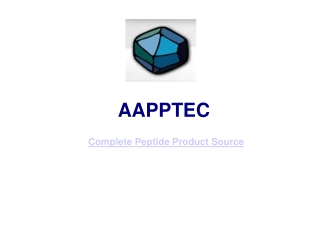 Aapptec- Custom Peptide Products Services