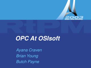 OPC At OSIsoft