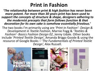 Print in Fashion