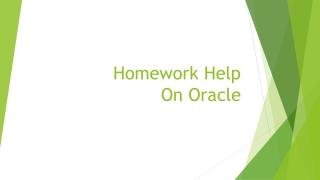 Homework Help On Oracle
