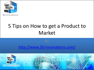 5Tips on How to get a Product to Market