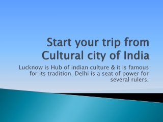 For best offers get Cheap air tickets from Lucknow to Delhi