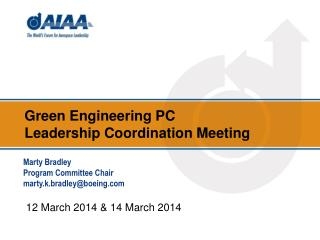 Green Engineering  PC  Leadership Coordination Meeting
