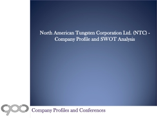 North American Tungsten Corporation Ltd. (NTC) - Company Pro