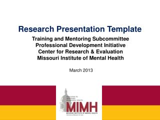 Research Presentation Template