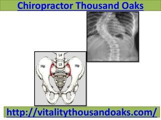 Chiropractor Thousand Oaks