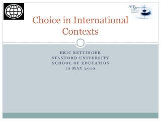 Choice in International Contexts