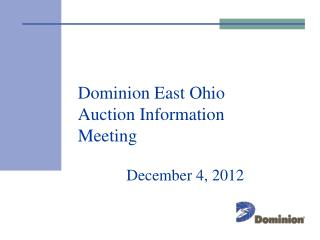 Dominion East Ohio Auction Information Meeting
