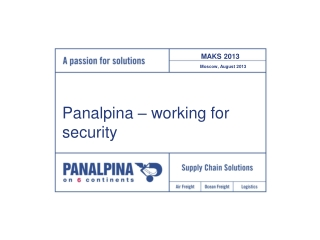 Panalpina – working for security
