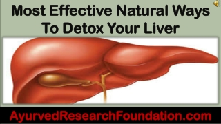 Most Effective Natural Ways To Detox Your Liver