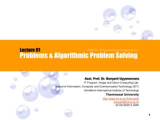 Problems & Algorithmic Problem Solving