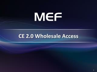 CE  2.0 Wholesale  Access