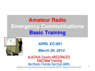 Amateur Radio  Emergency Communications Basic Training