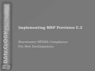 Implementing MRP Provision C.3