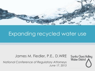 Expanding recycled water use