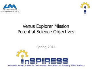 Venus Explorer Mission           Potential Science Objectives