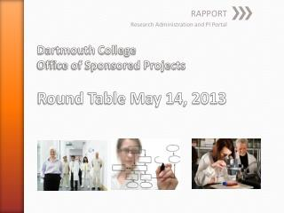 Dartmouth College  Office of Sponsored Projects Round Table May 14, 2013