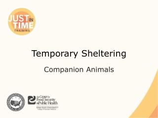 Temporary Sheltering