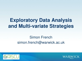 Exploratory Data Analysis and Multi- variate  Strategies