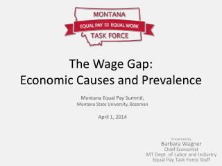 The Wage Gap:   Economic Causes and Prevalence
