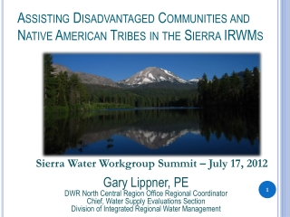 Assisting Disadvantaged Communities and Native American Tribes in the Sierra IRWMs