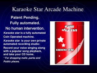 Karaoke Star Arcade Machine