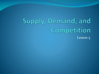 Supply, Demand,  and Competition