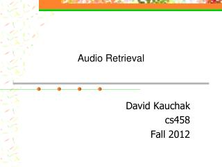 Audio Retrieval