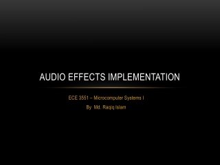 Audio effects implementation