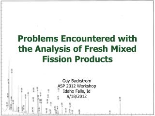 Problems Encountered with the Analysis of Fresh Mixed Fission Products