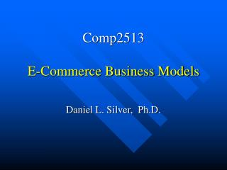 Comp2513 E-Commerce Business Models