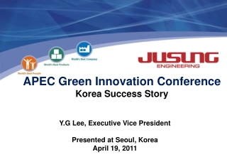 APEC Green Innovation Conference Korea Success Story