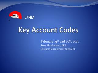 Key Account Codes