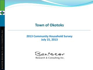 2013 Community Household Survey July 15, 2013