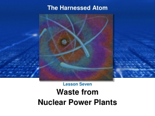 Lesson Seven Waste from  Nuclear Power Plants