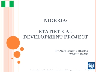 NIGERIA: STATISTICAL DEVELOPMENT PROJECT