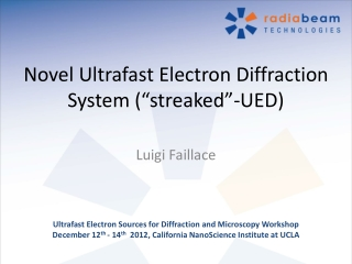 "Novel Ultrafast Electron Diffraction System (""streaked""-UED)"