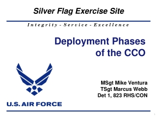 Deployment Phases of the CCO